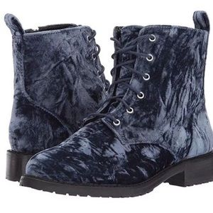 Brand new Blue Velvet Combat booties, size 9.5